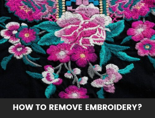 How to Remove Embroidery?