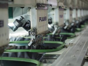 An Image of bulk embroidery machines in a company today