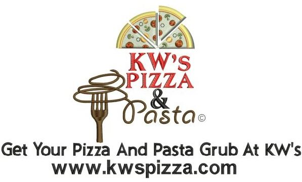 KW's pizza Jacket Back logo