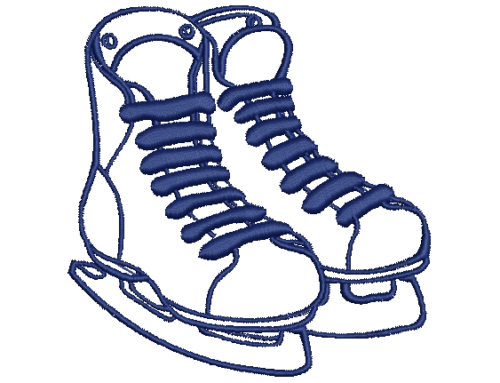 Ice Skates Applique