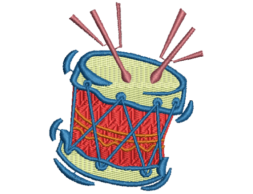 Drum Embroidery