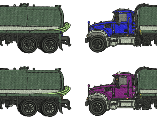 Truck Embroidery Pattern