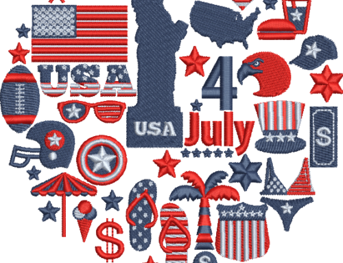 Independence Day Embroidery Pattern