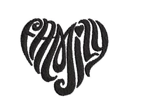 Family Heart Embroidery Pattern