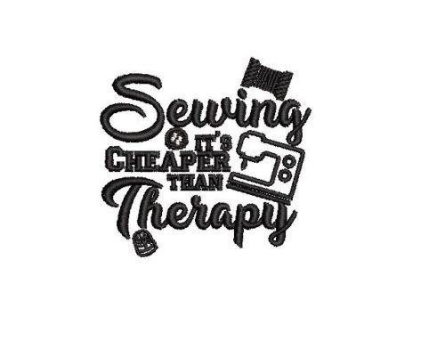 Sewing its cheaper than therapy