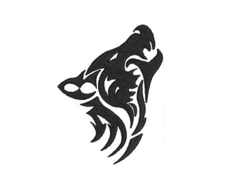 Wolf Embroidery pattern