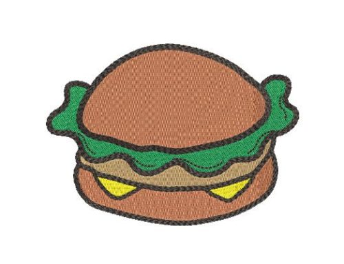 Burger Embroidery Pattern