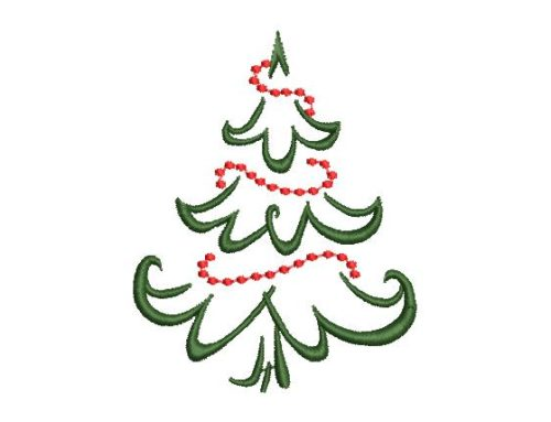 Christmas Tree Free Embroidery Pattern
