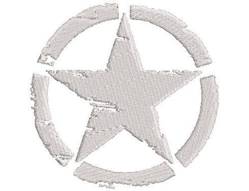 Star Logo Embroidery Design
