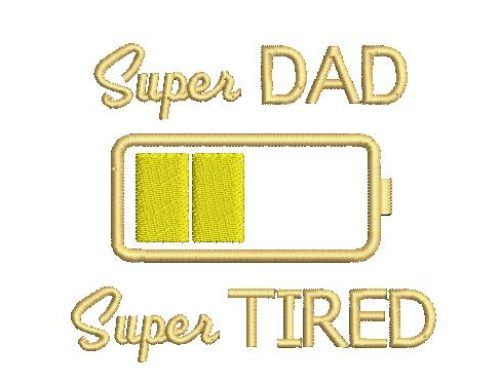 Super Dad Embroidery Design