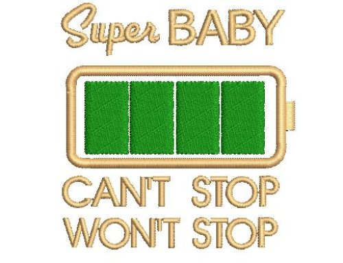 Super Baby Embroidery Design