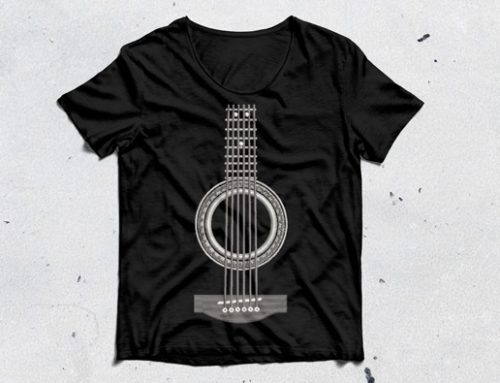 Guitar Embroidery Pattern
