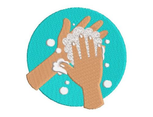 Wash Your Hands Embroidery Pattern