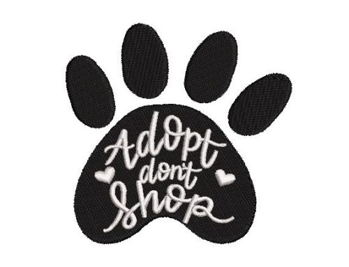 Adopt Don't Embroidery Design