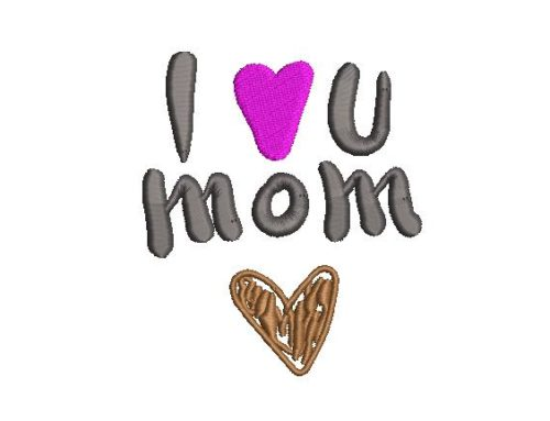 I Love You Mom Design