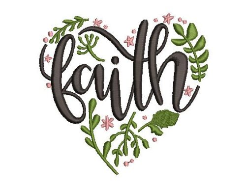 Faith Embroidery Pattern