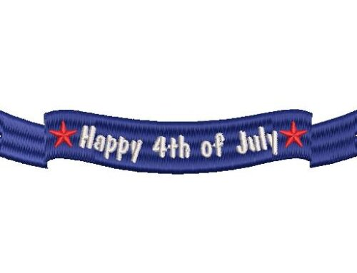 4th July Ribbon Embroidery Design
