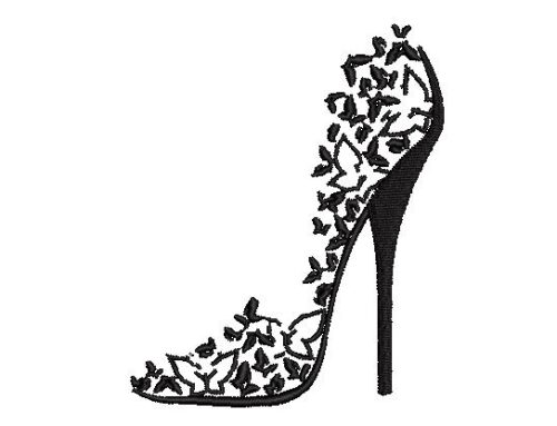 Butterfly Sandle Embroidery Design