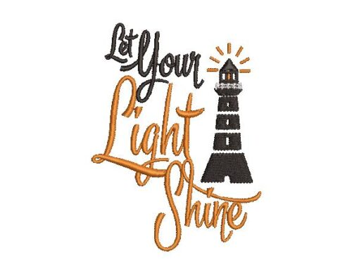 Light Shine Embroidery Design
