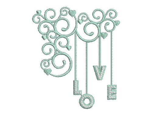New Love Embroidery Design