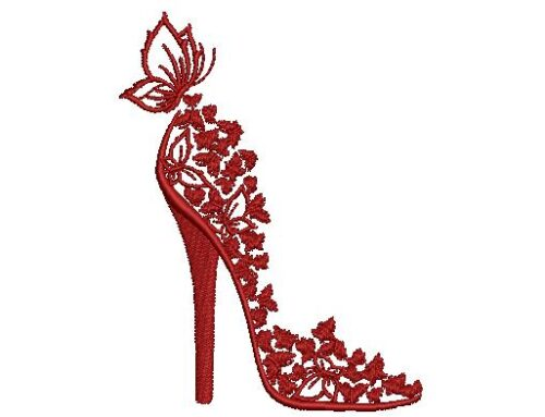 Butterfly Sandal Embroidery Design