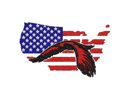 USA Eagle Flag Embroidery Pattern
