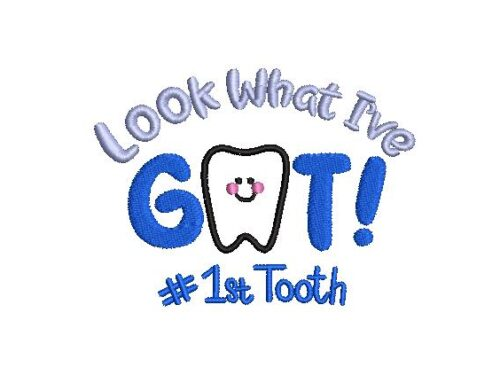 My First Tooth Embroidery Design