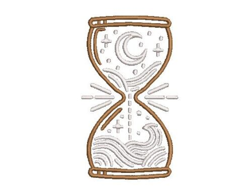 Sand Timer Embroidery Pattern