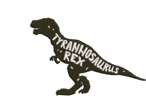 TRex Embroidery Design