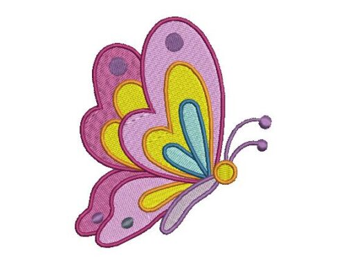 Colourfull Butterfly Embroidery Design