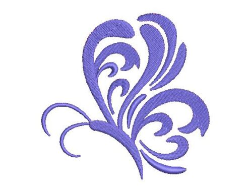 Floral Butterfly Embroidery Design