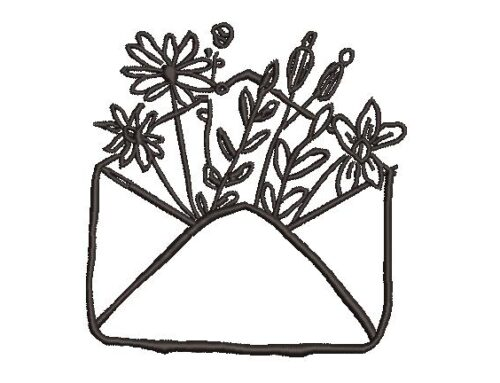 Envelope Embroidery Design