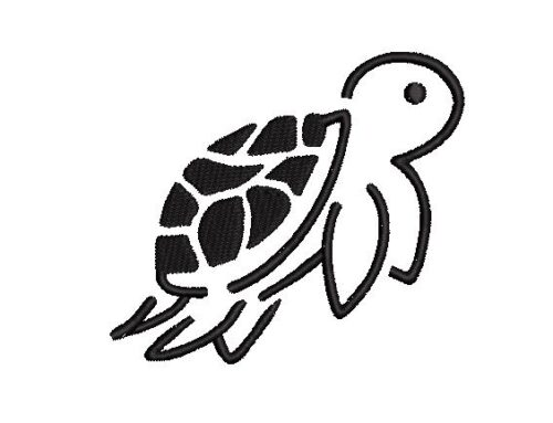 Flying Tortoise  Embroidery Design