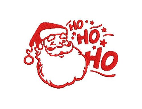 Ho Ho Ho  Embroidery Pattern