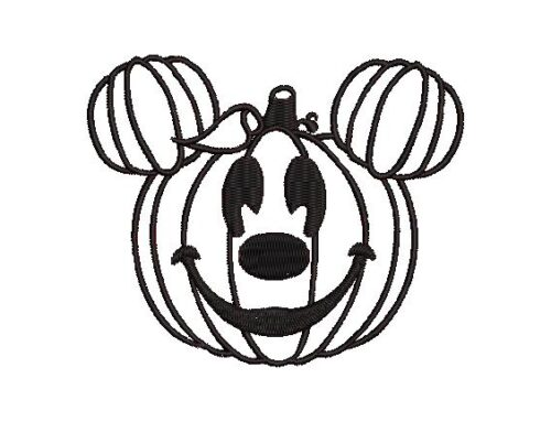 Pumpkin Face Embroidery Pattern