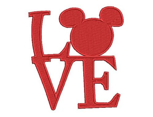 L V E Embroidery Pattern