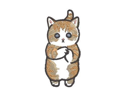 Cute Kitten Embroidery Design