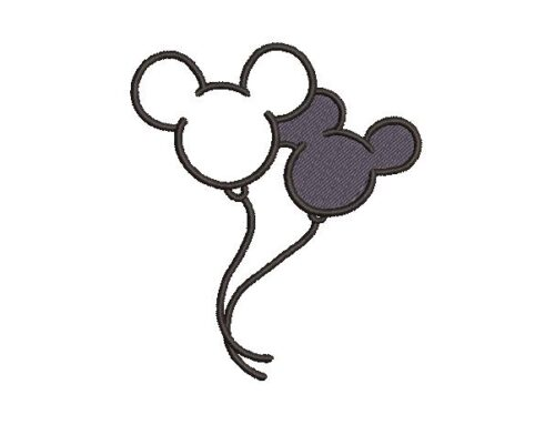 Mickey Mouse Balloon Embroidery Design