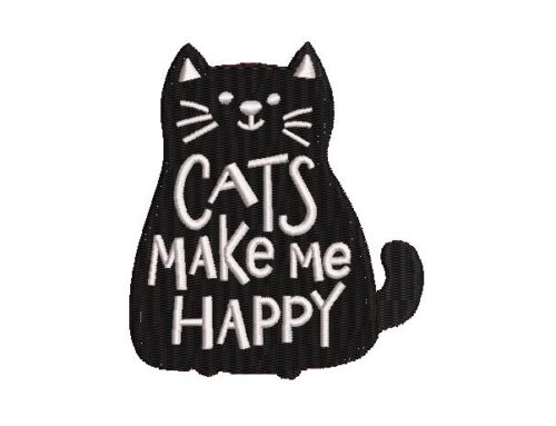 Cats Make Me Happy Design