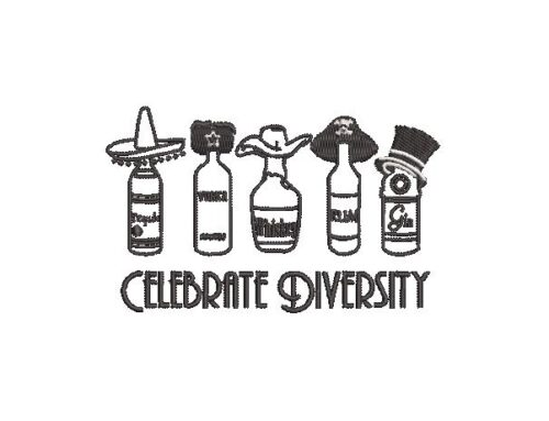 Celebrate Diversity Embroidery Design