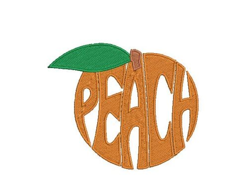 Wordart Peach Embroidery Pattern