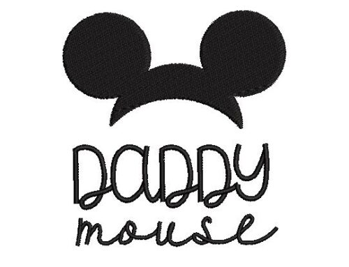Daddy Mouse Embroidery Pattern