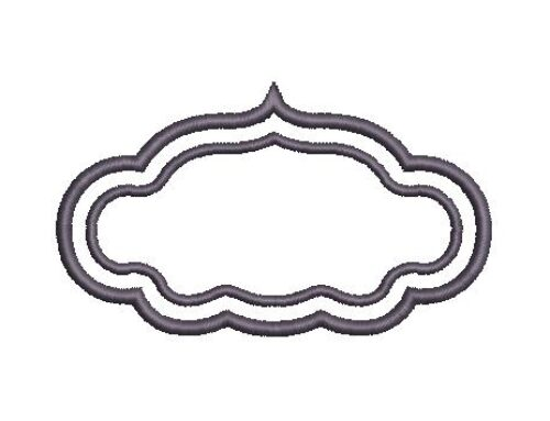 Oval Frame Embroidery Pattern