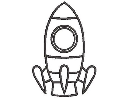 Rocket Embroidery