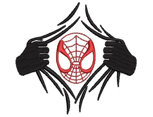 Spider Man Embroidery Pattern