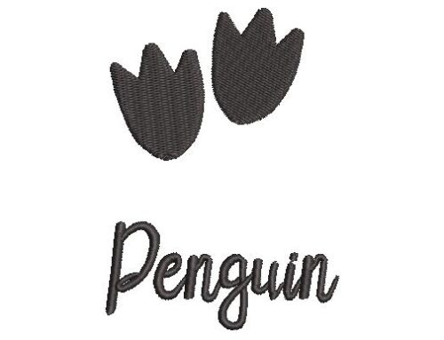 Penguin Paw Embroidery Pattern