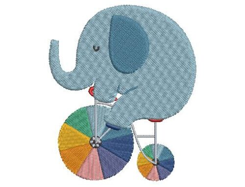 Cute Elephant Embroidery Pattern