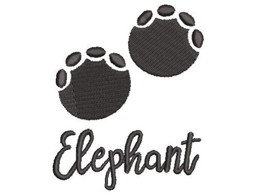 Elephant Paw Embroidery Pattern